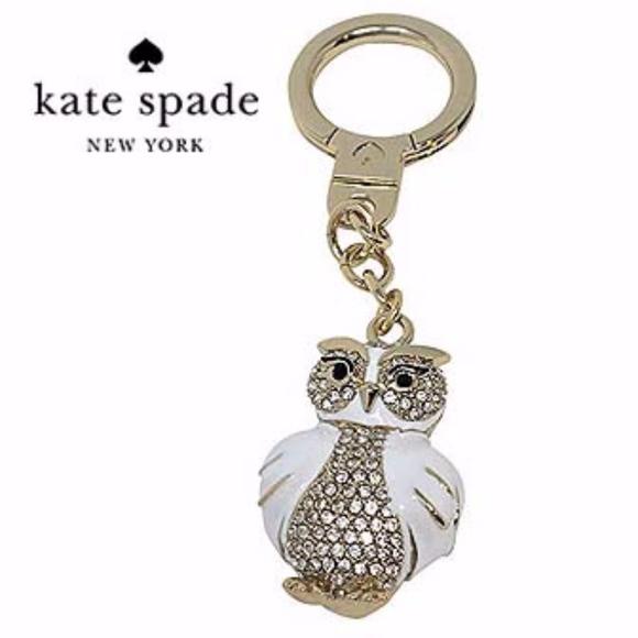 0f031e2fcb803 Kate Spade Jeweled Owl Key Chain Bag Charm Boutique